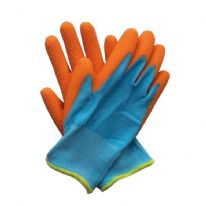 Briers Kids Junior Digger Gloves - Orange & Blue